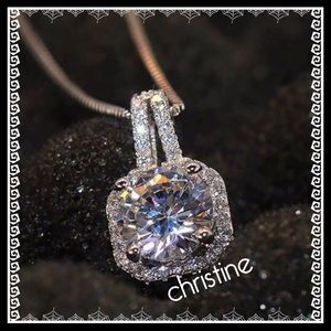"Jewelry - 🆕💗CZ 18"" Sterling silver necklace"